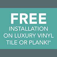 Free Installation on luxury vinyl at Finishing Touch Design Studio in Aberdeen, SD