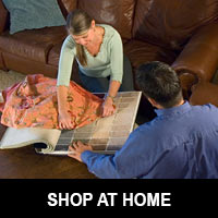 Shop flooring from the convenience of your home - call Finishing Touch today to schedule your appointment!