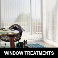 Featuring window treatments by Hunter Douglas
