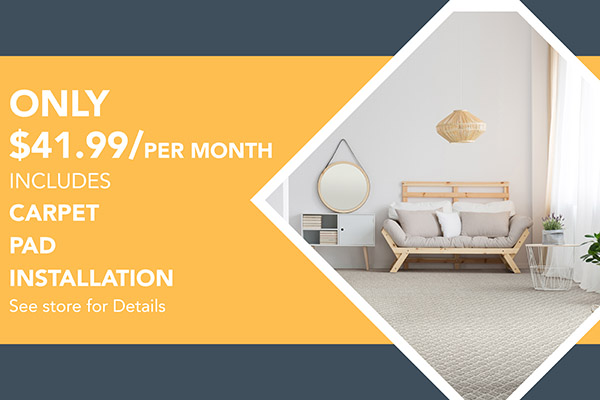 Includes Carpet, Pad & Install