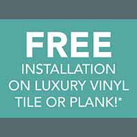 Free Installation on luxury vinyl at Finishing Touch Design Studio in Aberdeen, SD